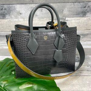 MCM neo Milla crocodile embossed tote bag purse